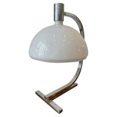 """Franco Albini """"AS1C"""" Large Table Lamp in Chrome and Glass"""