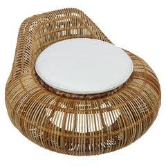 Franco Albini Attributed Rattan Lounge Chair