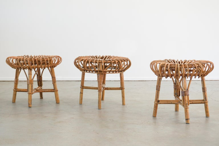 Franco Albini Attributed Stools For Sale 1