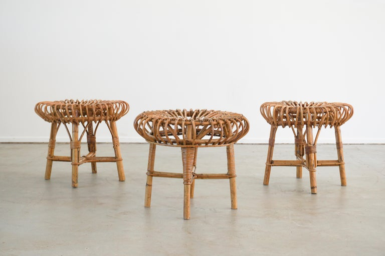 Franco Albini Attributed Stools For Sale 2