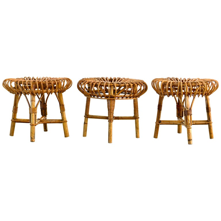Franco Albini Attributed Stools For Sale