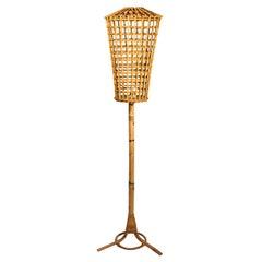 Floor Lamp, Bamboo, Italy, circa 1960