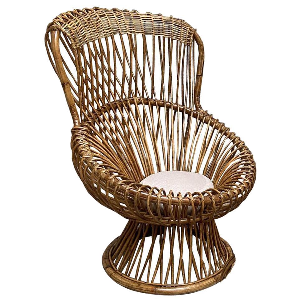 Franco Albini for Bonacina Margherita Chair, Italy, 1950s