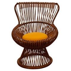 "Franco Albini for Bonacina, Mid-Century Rattan Chair ""Margherita"", 1950"