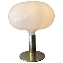 Franco Albini & Franca Helg Gold Sirrah Chrome Glass AM/AS Table Lamp Italy 60s