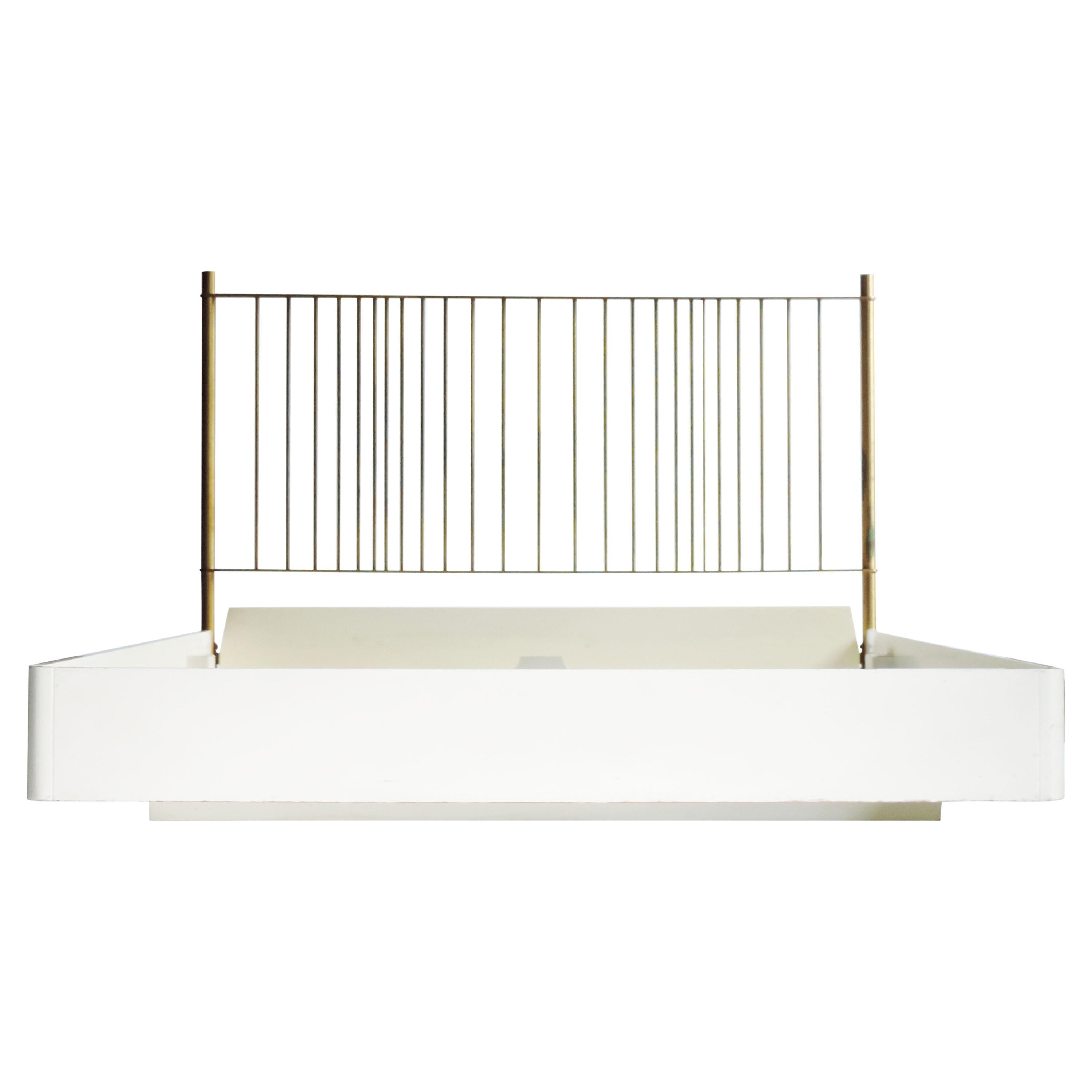 Franco Albini & Franca Helg 'Mirage' Brass Double Bed for Frigerio, Italy, 1970s