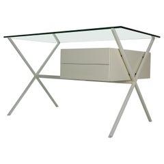 Franco Albini Glass & Metal Writing Desk for Knoll International, 1949