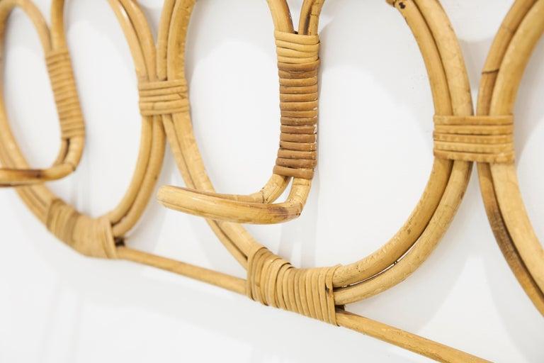 Rattan coatrack design by collaboration of Franco Albini & Helg Franca  Measures: cm 97 x 36 e 83 x 49.