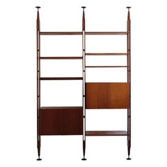 Franco Albini Italian Midcentury Wood Bookcase LB7 for Poggi, 1950s
