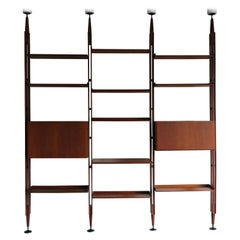 Franco Albini Italian Midcentury Wood Bookcase LB7 for Poggi, 1950s
