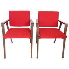 Franco Albini Luisa Dining Chairs Italian Design for Poggi Set of 6 Circa 1950