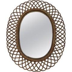 Franco Albini Midcentury Oval Mirror