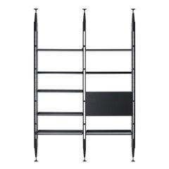 Franco Albini Modular Bookcase Infinito, Black Stain Wood by Cassina