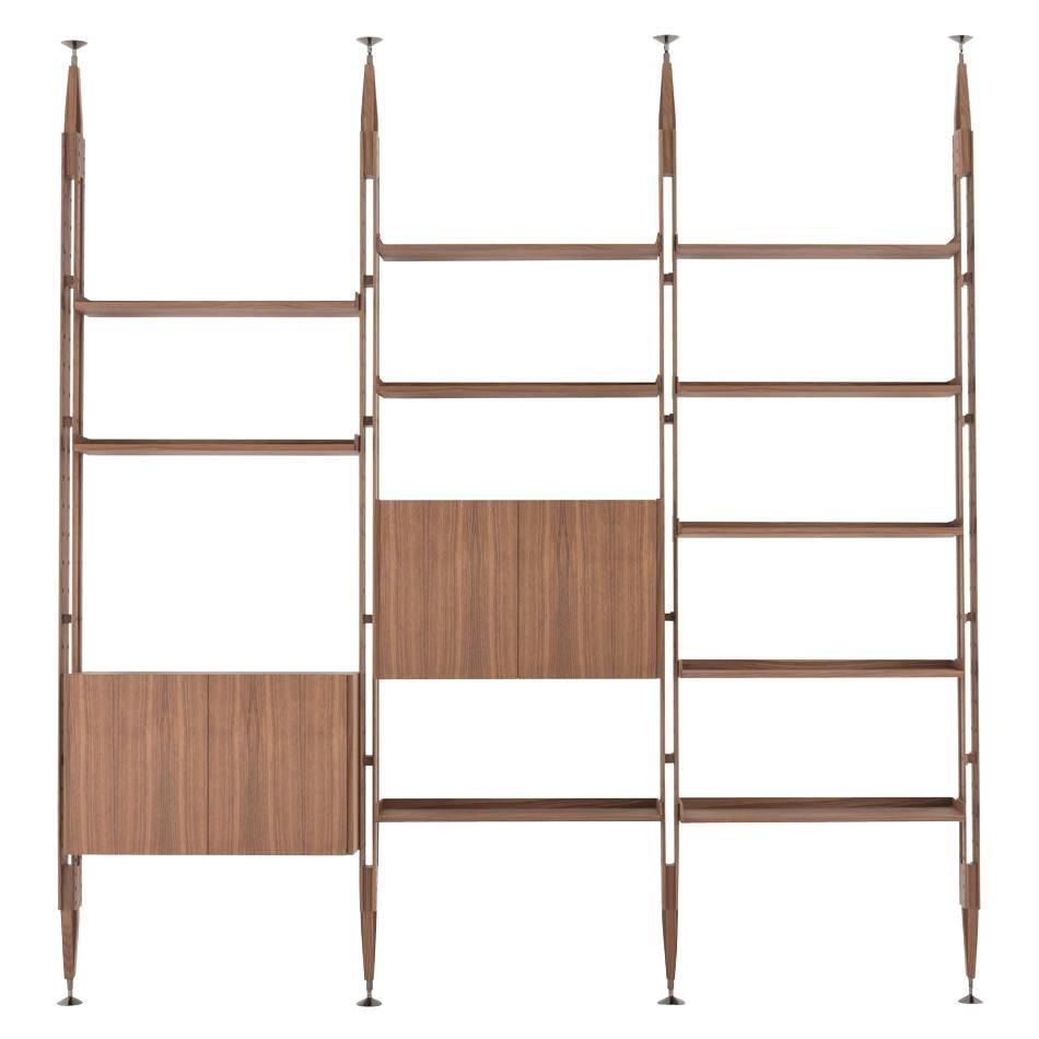 Franco Albini Modular Bookcase Infinito, Wood by Cassina