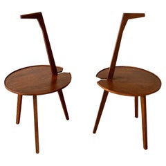 """Franco Albini, Pair of Side Tables TN6 """"Cicogna"""" 1950s"""