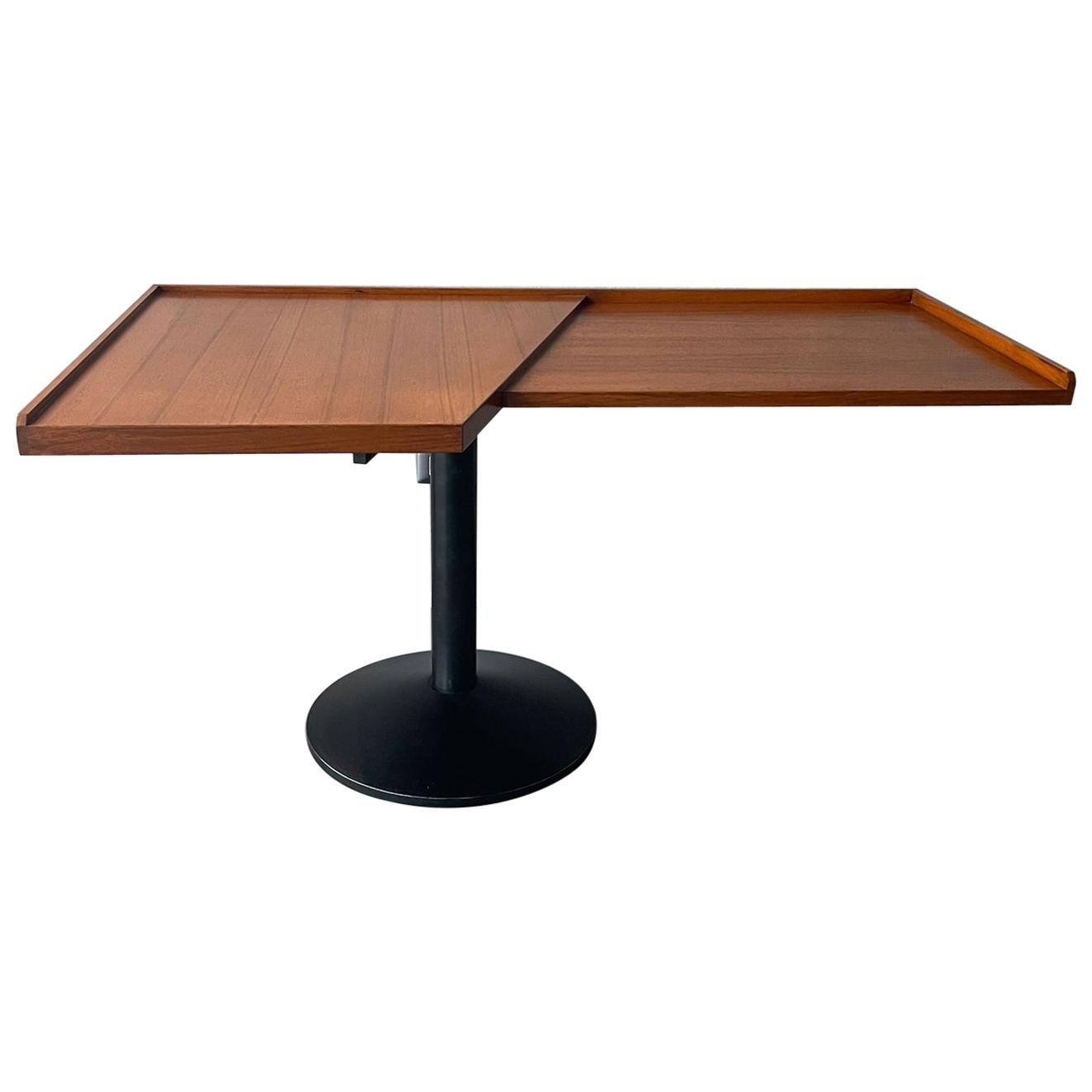 Franco Albini Poggi Wood Steel Desk Mod. Stadera Italy 1958 Excellent Patina