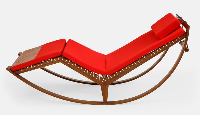 Franco Albini Rocking Chaise Model PS16 In Good Condition For Sale In New York, NY