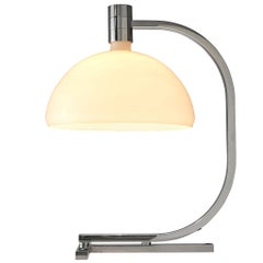 Franco Albini Table Lamp with Opaline Glass Shade