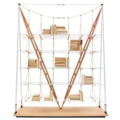 Franco Albini Veleiro Bookcase, Wood by Cassina