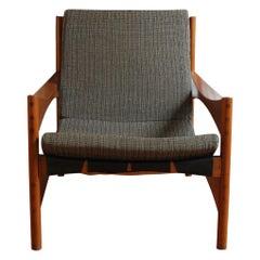 Franco Bettonica Walnut Wood P40 Armchair for Poltronova, 1959