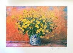 Vase of Jerusalem Artichoke Flowers