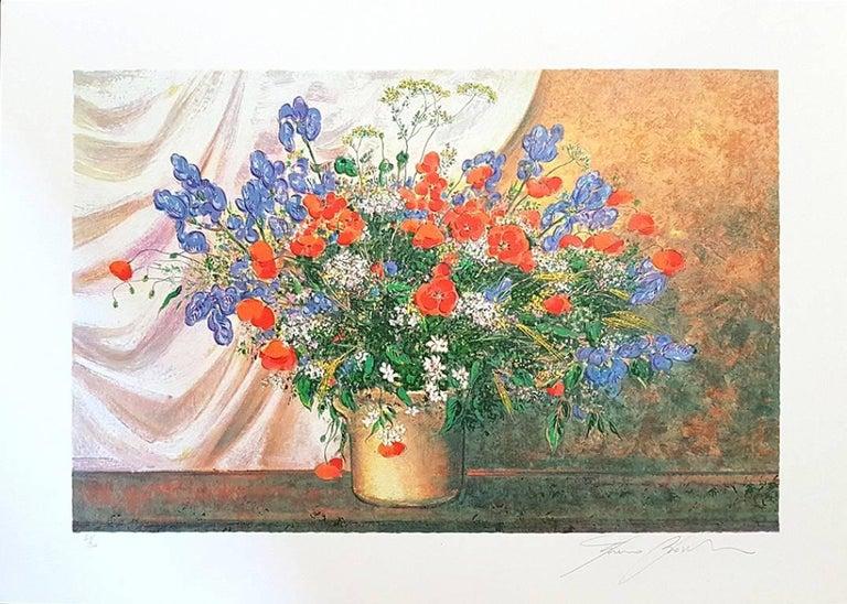 Franco Bocchi Figurative Print - Wildflowers