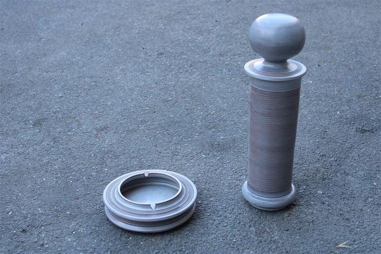 Franco Bucci 1970 porcelain ashtray jar with lid 1970s Italian design. Measures: Ashtray diameter cm, 19.5 height cm 5.5.