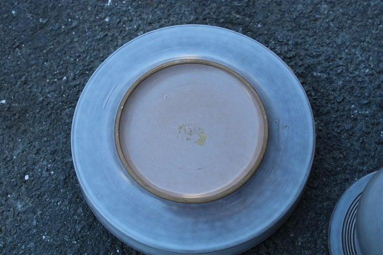 Franco Bucci 1970 Porcelain Ashtray Jar with Lid 1970s Italian Design For Sale 1