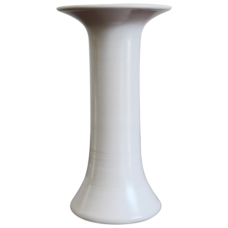 Franco Bucci Italian White Ceramic Vase, 1970s
