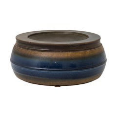 Franco Bucci Midcentury Enameled Ceramic Container for Laboratorio Pesaro 1960s