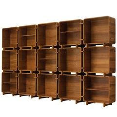 Franco Campo & Carlo Graffi for Home Modular Bookcase in Walnut