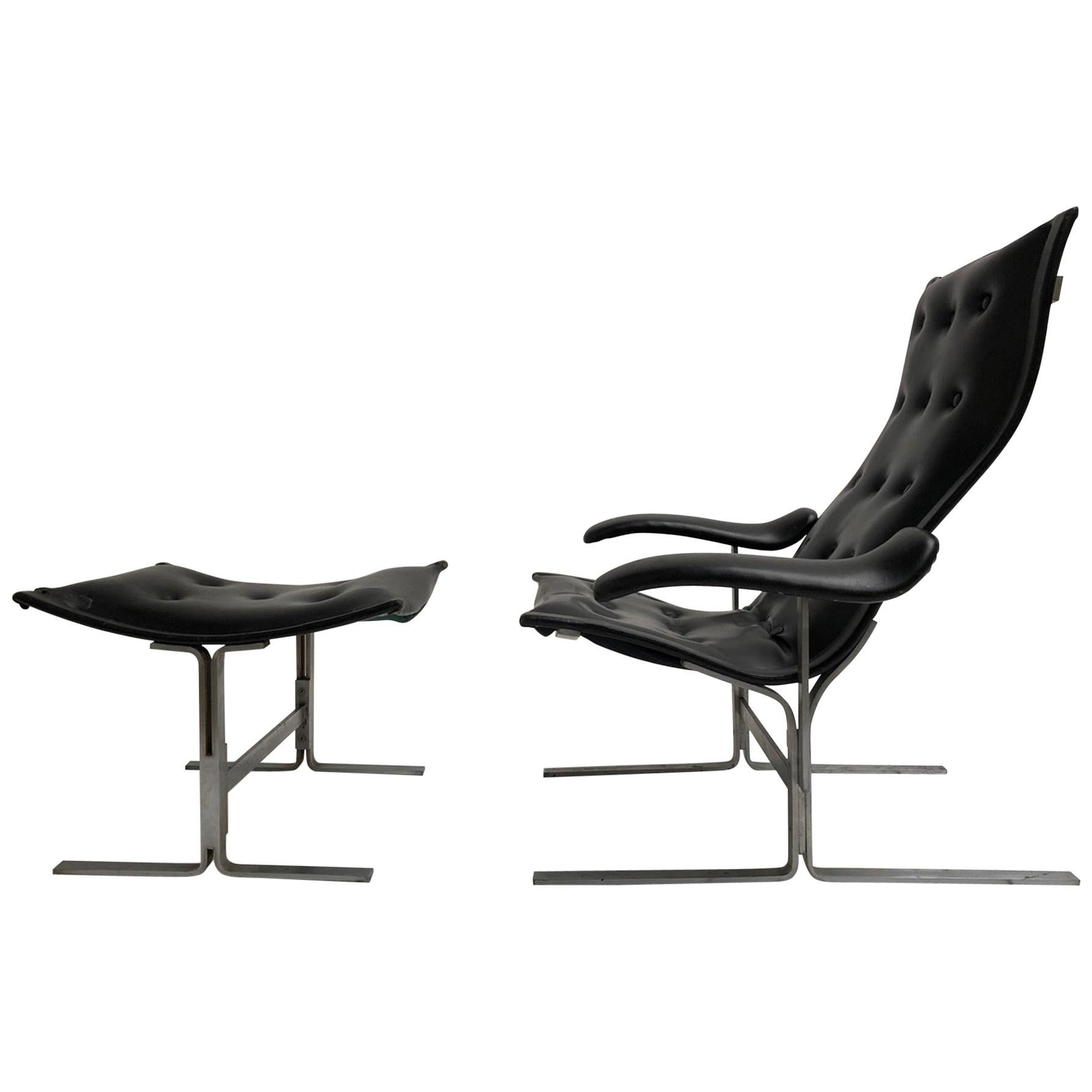 Franco Campo lounge chair & ottoman, 1 of 2 sets ever produced, Authenticated