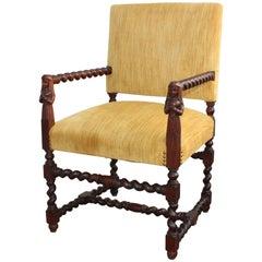 Franco Flemish Walnut Armchair