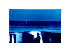 Attendance Blue Sea - Vintage Poster After Franco Fontana - 1981