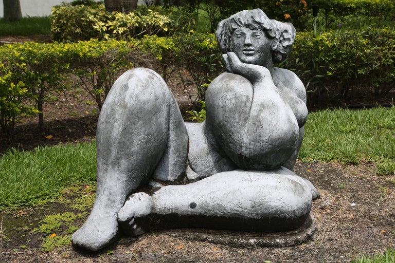 Mediterranea - Gold Figurative Sculpture by Franco Franchi