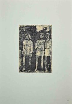 Figure - Vintage Offset byFranco Gentilini - 1970s