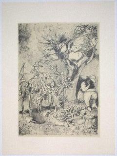 Garden - Vintage Offset Print by Franco Gentilini - 20th Century