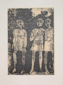 Girls - Original Offset Print after Franco Gentilini - 20th Century