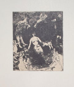Horror Scene - Vintage Offset Print by Franco Gentilini - 20th Century