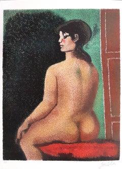 Luisa - Original Lithograph by Franco Gentilini - 1980