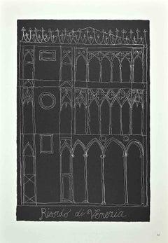 Memory of Venice - Original Offset Print by Franco Gentilini - 1970s