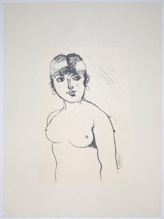 Nude - Vintage Offset Print by Franco Gentilini - 20th Century