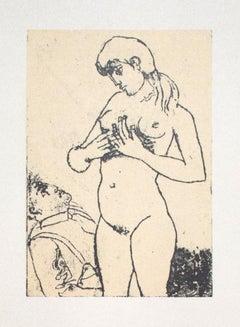 Nude - Vintage Offset Print by Franco Gentilini - 20th Century