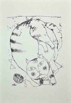 The Big Cat - Original Offset Print by Franco Gentilini - 1970s
