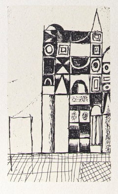 The Cathedral - Original Offset by Franco Gentilini  - 1970s