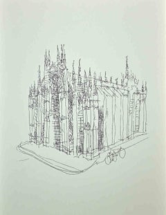 The Cathedral - Original Photolithography by Franco Gentilini - 1970s