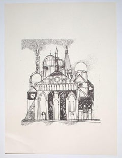 The Cathedral - Vintage Offset Print by Franco Gentilini - 20th Century