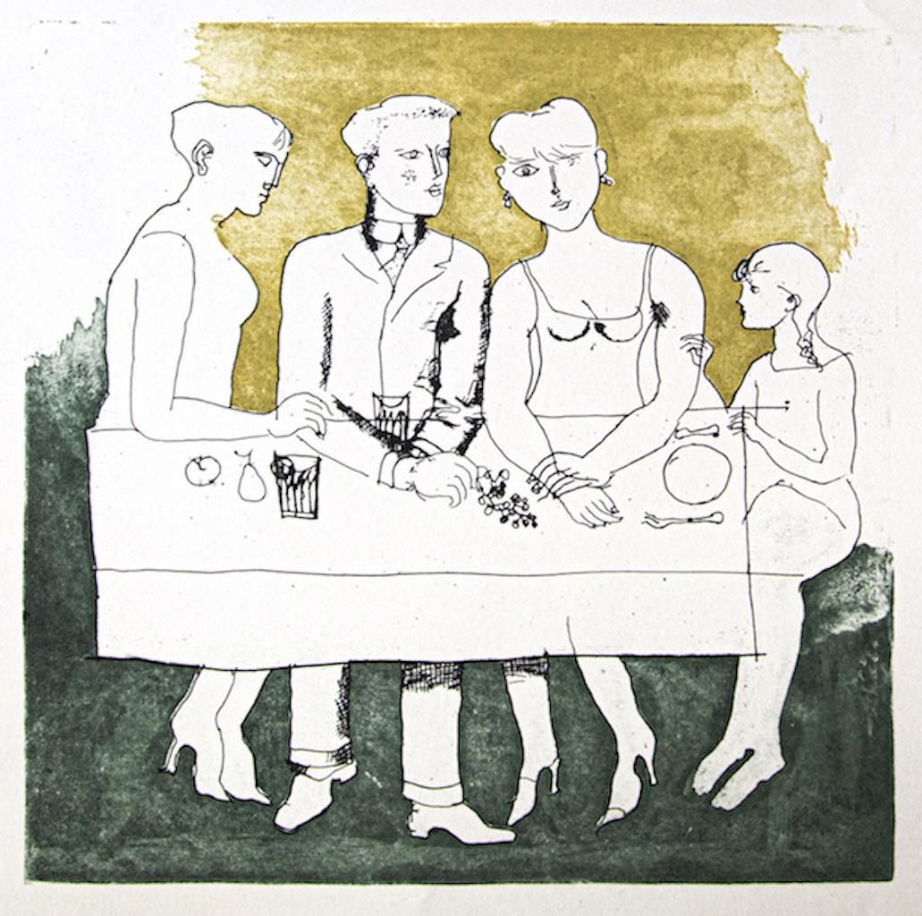 The Family - Original Offset by Franco Gentilini  - 1970s