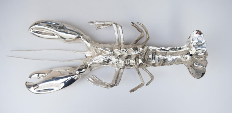 Franco Lapini Silver Plated Lobster, Italy, 1970 For Sale 4