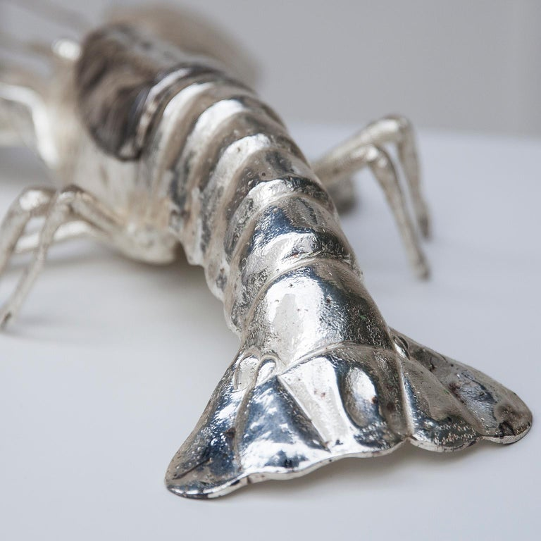 Franco Lapini Silver Plated Lobster, Italy, 1970 In Good Condition For Sale In Munich, DE